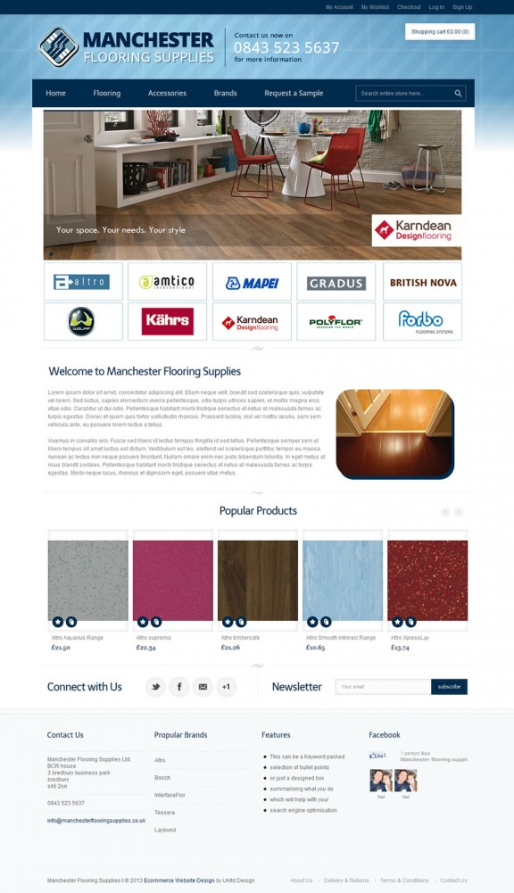 Manchester ecommerce website design