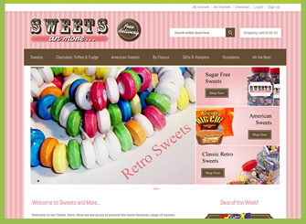 Sweet Ecommerce Website Design